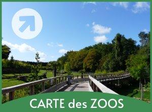 carte zoos en france